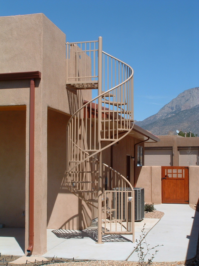 steel spiral stairs can be used for interior or exterior applications
